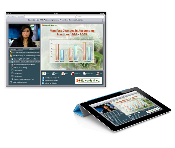 Webcast tablet UI